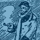 Paul Verlaine, 1896 par Frédéric-Auguste Cazals dessiné lors de la mort de l'auteur (bleuté)