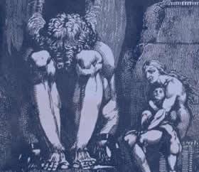 Je suis réellement d'outre-tombe (Basé sur Frontispice, 1793 par William Blake)