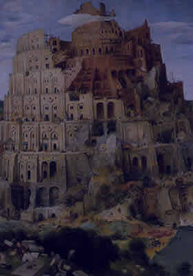 La première plus haute tour (Basé sur La Tour de Babel, 1563 par Pieter Bruegel l'aîné)
