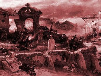 Le cimetière de Saint-Privat en 1870 par Alphonse-Marie-Adolphe de Neuville