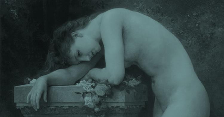 Le mal (Basé sur Douleur d'amour, 1899 par William-Adolphe Bouguereau)
