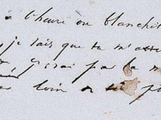 Manuscrit du poème « Demain, dès l'aube... » de Victor Hugo