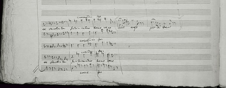 Les derniers écrits de Mozart sur le manuscrit du Requiem