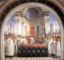 Enterrement de Santa Fina, par Domenico Ghirlandaio (1449-1494)
